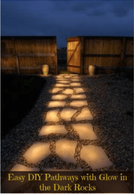 Diy outdoor lighting the grounds guys the grounds guys cheaply by painting pathway rocks with glow in the dark paint this is a relatively easy project and could also work well with outdoor planters aloadofball Gallery